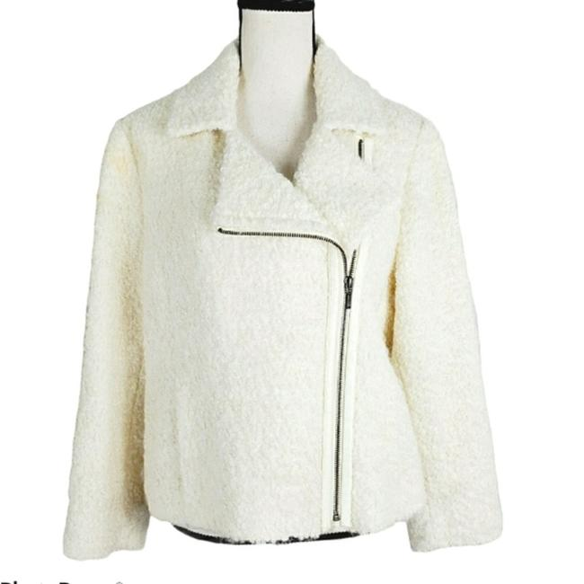 Item - Ivory Zip Up Alpaca Wool Blend Teddy Jacket Size Petite 14 (L)