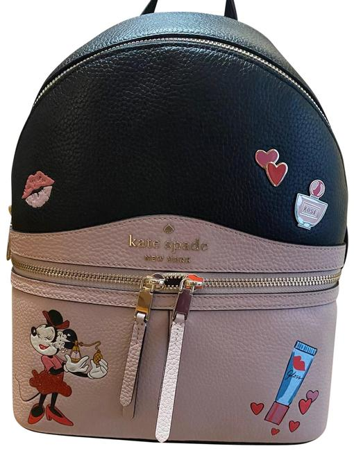 Item - Minnie Mouse Black and Blush Leather Backpack