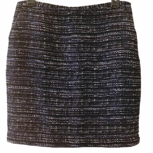 Item - Blue Lined Tweed Skirt Size 4 (S, 27)