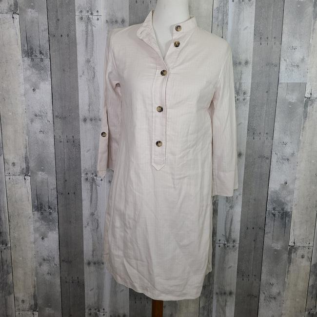 Item - Ivory Cotton Mid-length Short Casual Dress Size 4 (S)