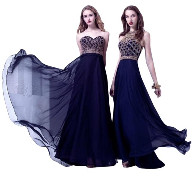 Item - Navy Blue Runway Collection Long Casual Maxi Dress Size 4 (S)