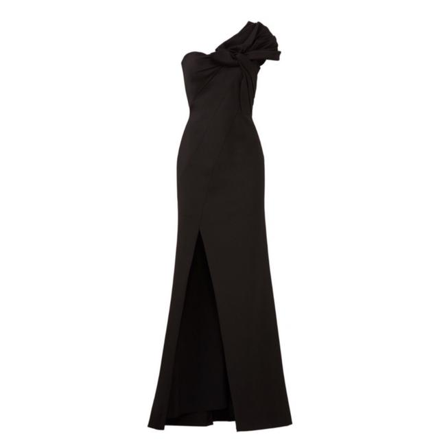 Item - Black • Bow Crepe Gown Long Night Out Dress Size 6 (S)