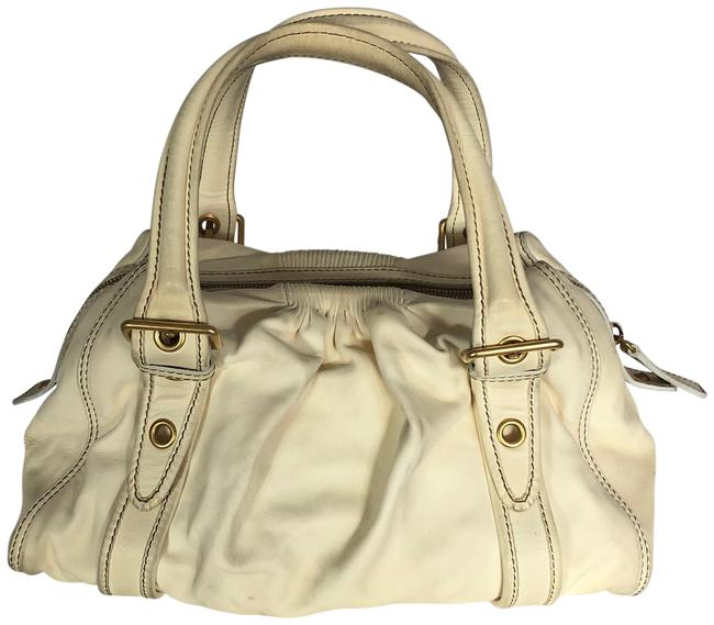 Item - Smooth Cream Calfskin Leather Tote