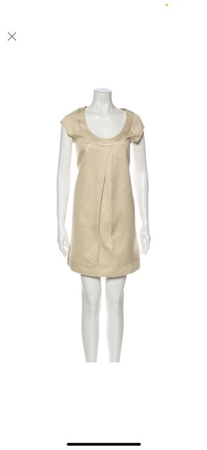 Item - Gold Dvf Mid-length Work/Office Dress Size 4 (S)