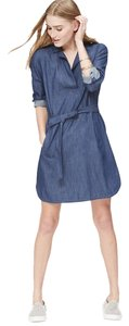Ann Taylor short dress Blue Abyss Chambray on Tradesy