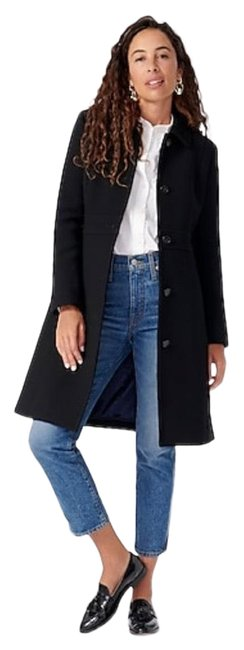 Item - Black W Classic Day In Italian Double Cloth Wool W/ Thinsulate Coat Size 2 (XS)