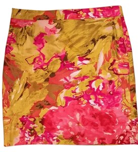 J.Crew Skirt Hot pink, gold, brown