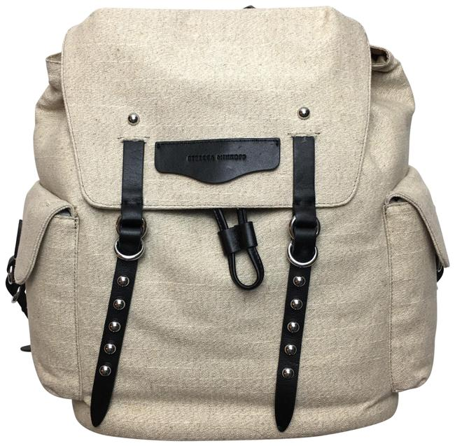 Item - Bowie Cotton/Leather Tab Cotton Blend Backpack