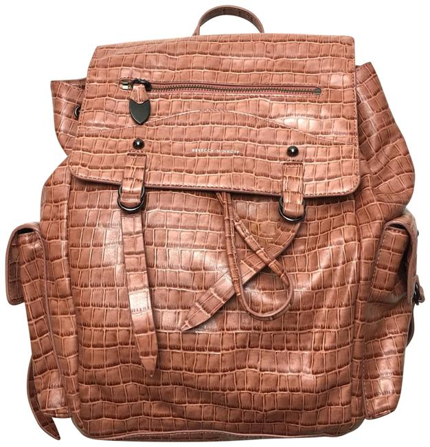 Item - Embossed Bowie Brown Leather Backpack