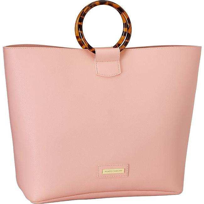Item - Bag Bag/Purse Pink Faux Leather Tote