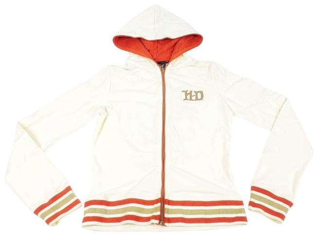 Item - Cream Embroidered Skull Light Weight Track Small Jacket Size 2 (XS)