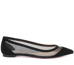 Item - Galativi Suede and Mesh Point-toe Flats