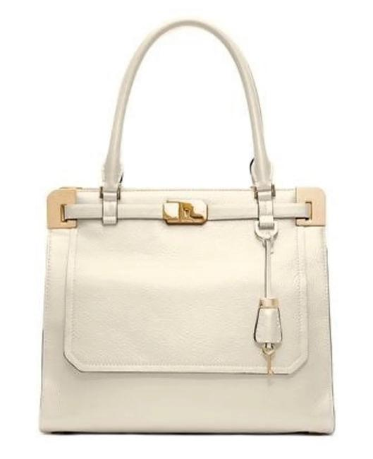 Michael Kors Collection White Leather Satchel Michael Kors Collection White Leather Satchel Image 1