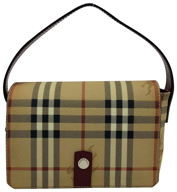 Item - Berkeley Classic Plaid Mini Tan Red Black White Coated Canvas Baguette