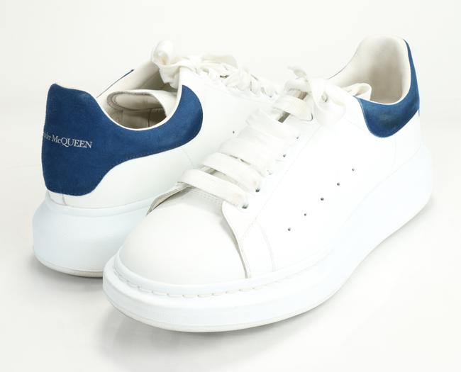 Item - White/Blue Oversized Sneakers Shoes