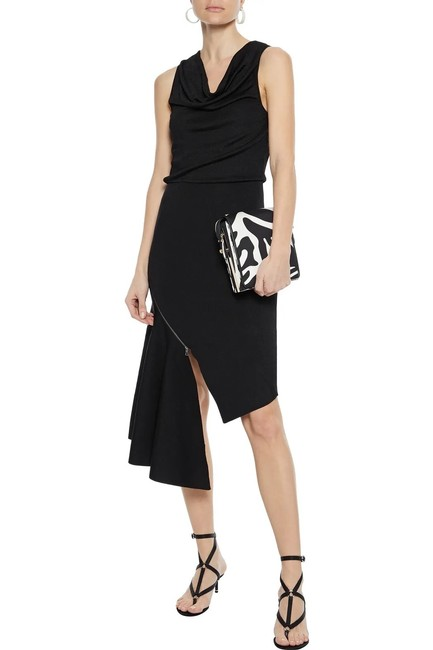 Item - Black And Hollis Asymmetrical Zip Detail Mid-length Night Out Dress Size 2 (XS)