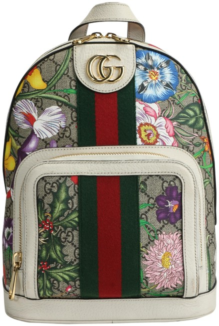 Item - Ophidia Flora Embroidered Multicolor Gg Supreme Canvas Backpack