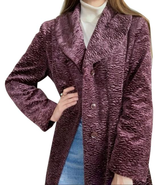 Item - Purple Velvety Long Winter Coat Size 12 (L)