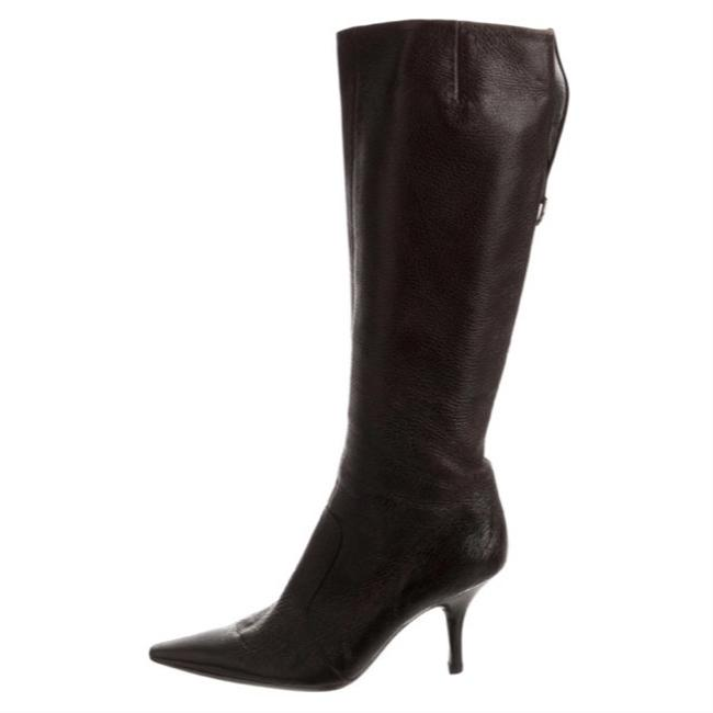 Item - Brown Pebble Leather Pointed-toe Tall Boots/Booties Size EU 37 (Approx. US 7) Regular (M, B)