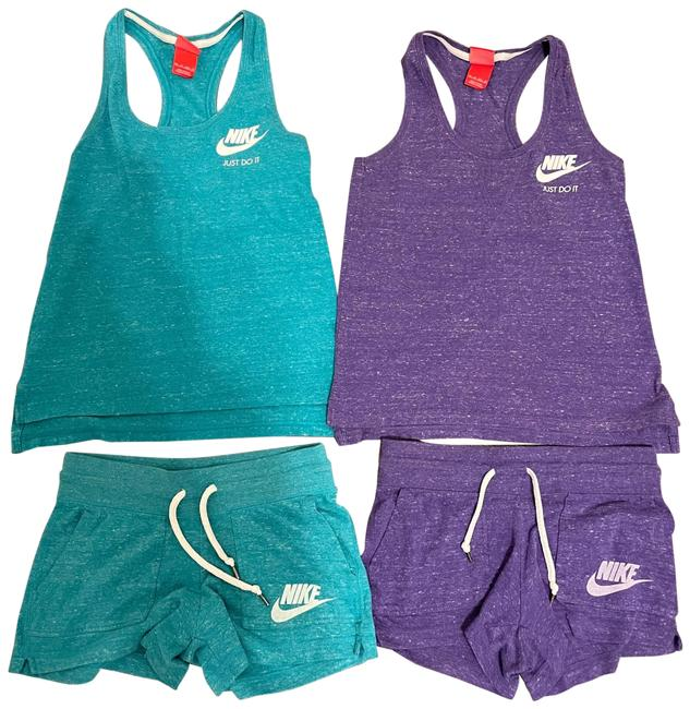 Item - Purple and Teal Set Of Tanks Shorts Activewear Sportswear Size 2 (XS)