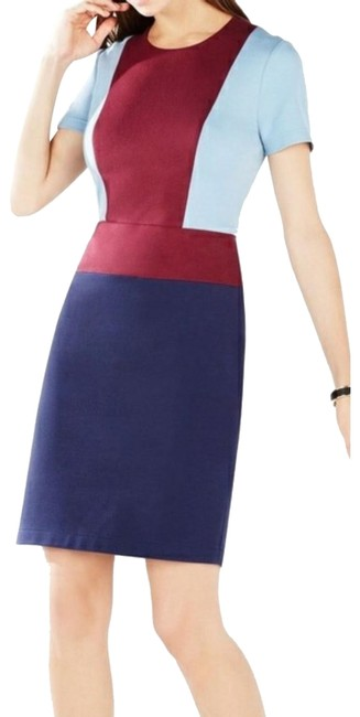 """Item - Red Blue """"Drie Ponte"""" Mid-length Cocktail Dress Size 6 (S)"""