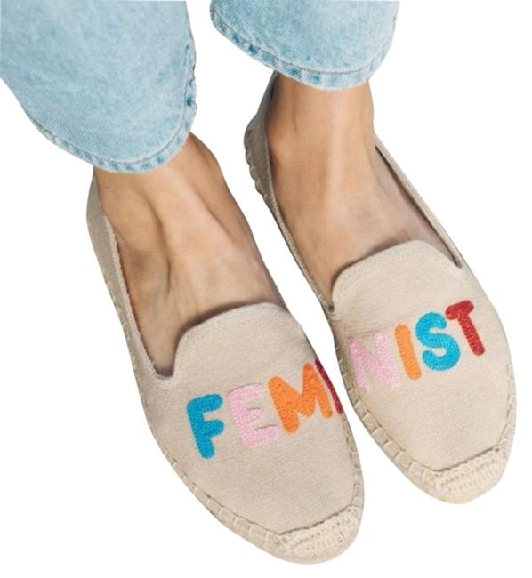 Item - Beige Soludos Feminist Embroidered Smoking Slippers Mules/Slides Size US 5.5 Narrow (Aa, N)