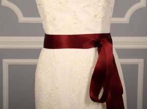 Dark Ruby Red Ribbon Sash 1 1/2