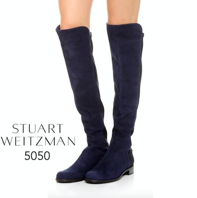 Item - Navy Blue 5050 Boots/Booties Size US 8.5 Regular (M, B)