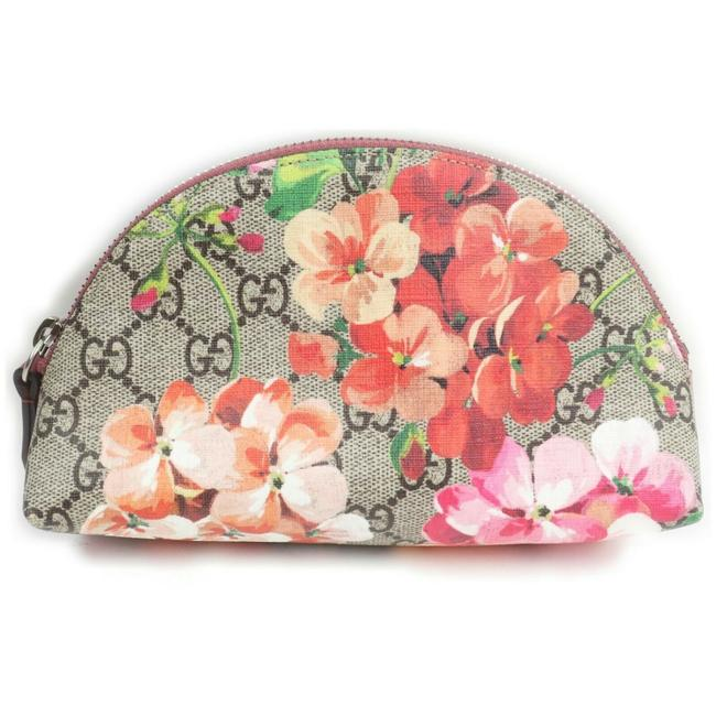 Item - Beige Pouch Pink Floral Supreme Gg Blooms Make Up 862397 Cosmetic Bag