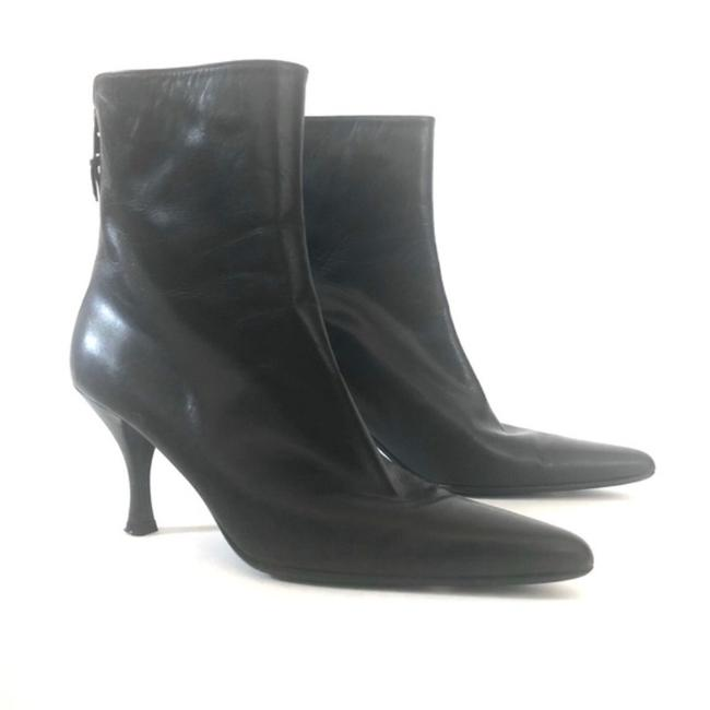 Item - Brown Leather Pointy Toe Heeled Boots/Booties Size EU 38.5 (Approx. US 8.5) Narrow (Aa, N)