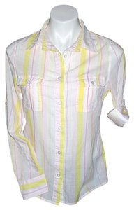 Old Navy Buttonup Button Down Shirt Multi-Color