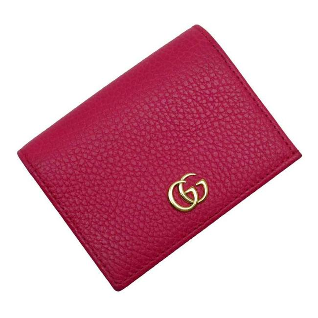 Item - Gold / Pink Bi-fold Double G Leather Ladies 456126 Wallet