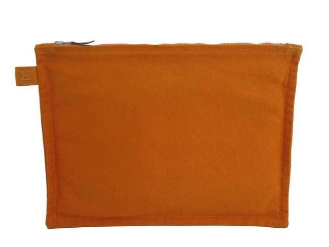 Item - Pouch Bora Accessory Case Multi-case Ladies Mens Orange Cotton Clutch