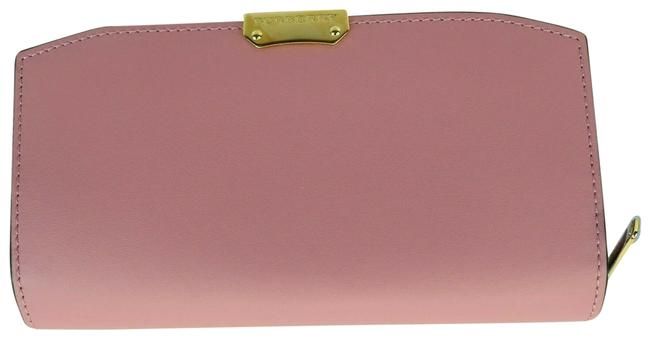 Item - Pink Alvington Pale Orchid Smooth Leather Gold Logo Zip Around Italy Wallet