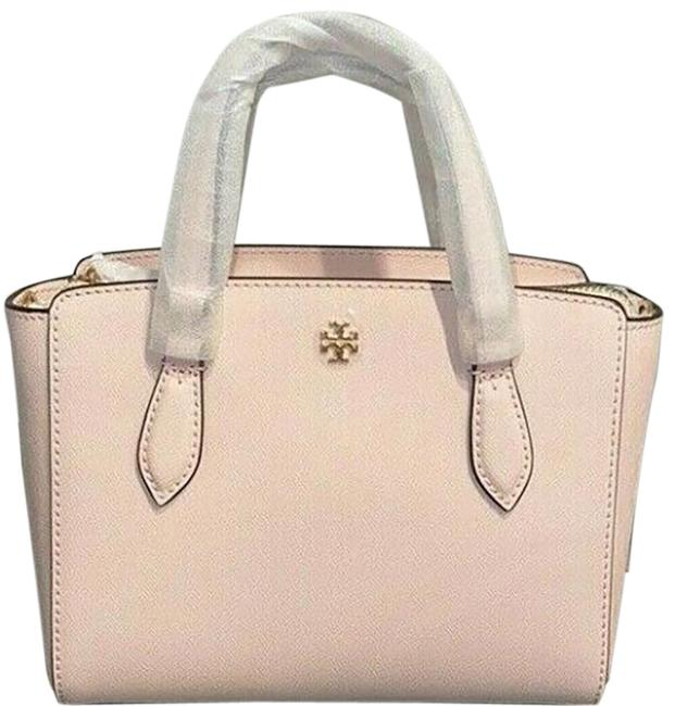 Item - Emerson Shell Pink Saffiano Reva Zip Tote Small # 64188 Beige Leather Shoulder Bag