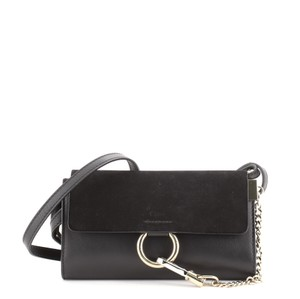 Item - Faye And Mini Black Leather Suede Shoulder Bag