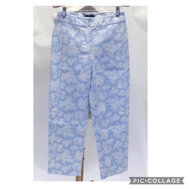 Item - Blue and White Floral Chino Pants Size Petite 2 (XS)