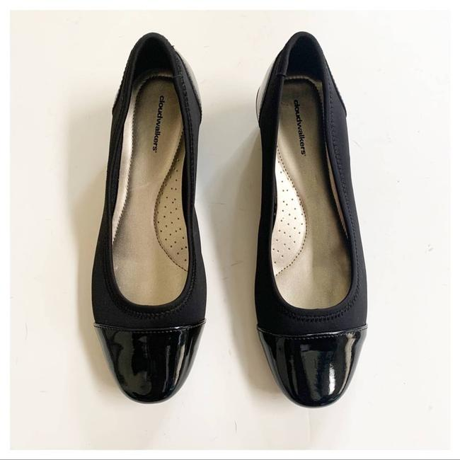 Cloudwalkers Black Patent and Fabric Comfort Wedges Size US 9 Regular (M, B) Cloudwalkers Black Patent and Fabric Comfort Wedges Size US 9 Regular (M, B) Image 2