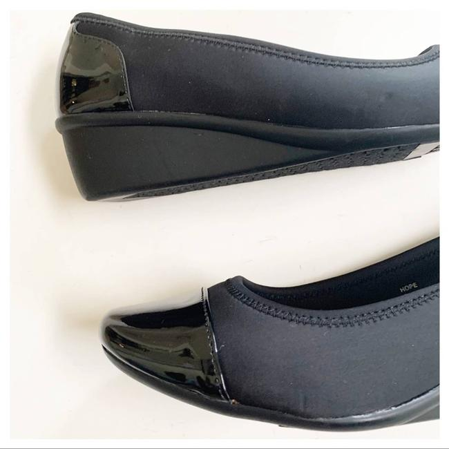 Cloudwalkers Black Patent and Fabric Comfort Wedges Size US 9 Regular (M, B) Cloudwalkers Black Patent and Fabric Comfort Wedges Size US 9 Regular (M, B) Image 12