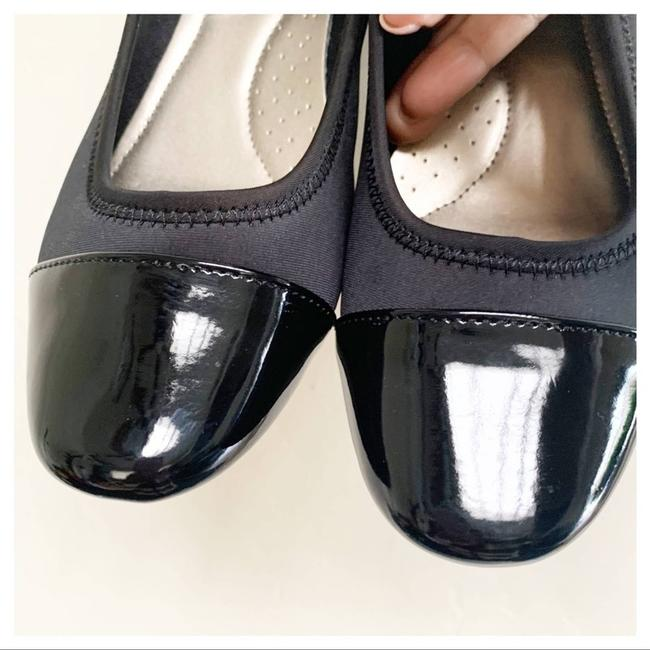 Cloudwalkers Black Patent and Fabric Comfort Wedges Size US 9 Regular (M, B) Cloudwalkers Black Patent and Fabric Comfort Wedges Size US 9 Regular (M, B) Image 3