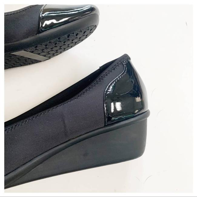 Cloudwalkers Black Patent and Fabric Comfort Wedges Size US 9 Regular (M, B) Cloudwalkers Black Patent and Fabric Comfort Wedges Size US 9 Regular (M, B) Image 9