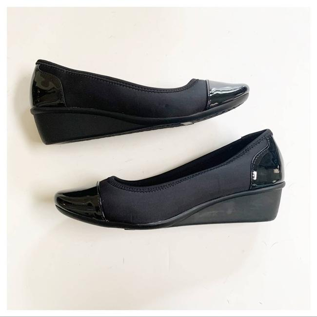 Cloudwalkers Black Patent and Fabric Comfort Wedges Size US 9 Regular (M, B) Cloudwalkers Black Patent and Fabric Comfort Wedges Size US 9 Regular (M, B) Image 10