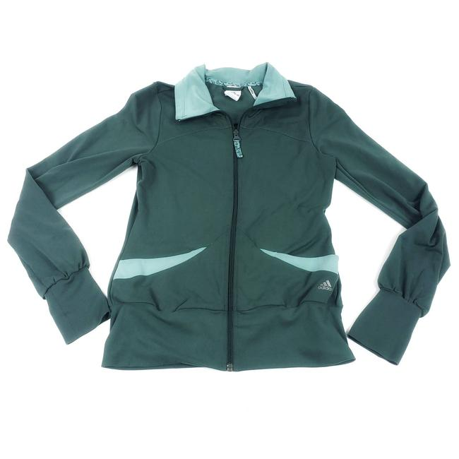 Item - Blue Clima Lite Track Tone Turquoise Zip Front Small Activewear Outerwear Size 4 (S)
