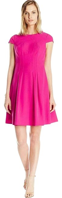 Item - Pink Pleated Power Stretch 4p Formal Dress Size Petite 4 (S)
