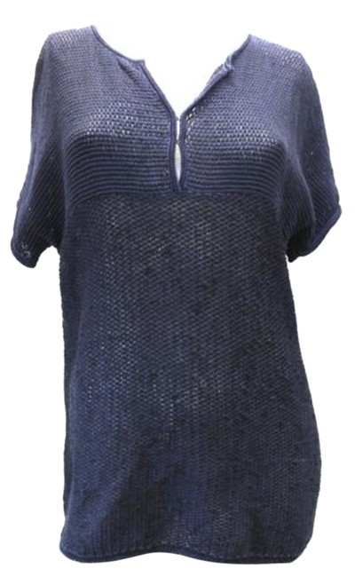 Preload https://item1.tradesy.com/images/piazza-sempione-short-sleeved-knit-tunic-48-blouse-size-12-l-2841070-0-0.jpg?width=400&height=650