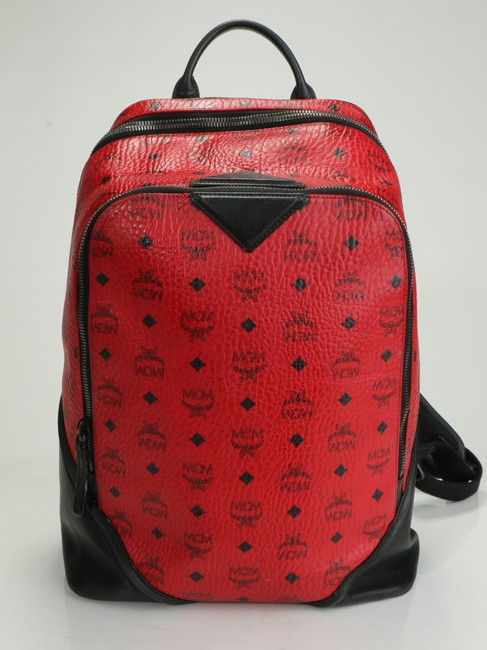 Item - Red Backpack Double Zip Men's Jewelry/Accessory
