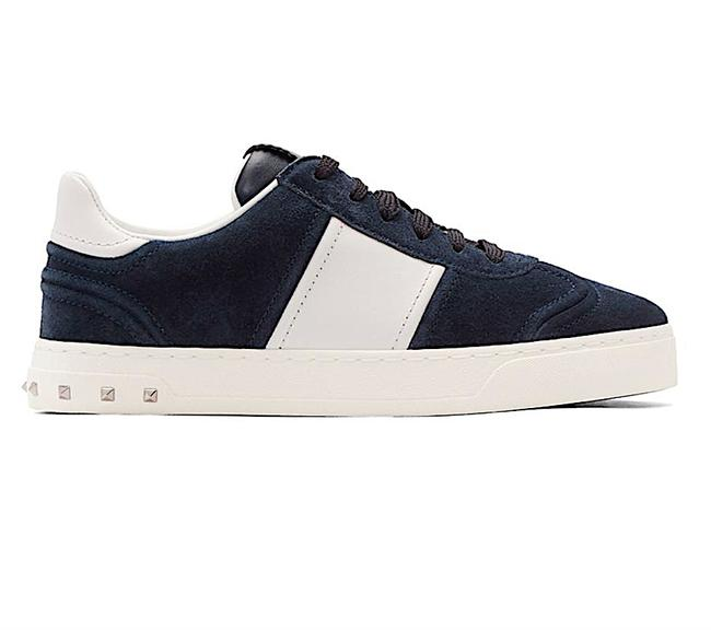 Item - Navy New And White Garavani Suede Flycrew Sneakers Size EU 35 (Approx. US 5) Regular (M, B)