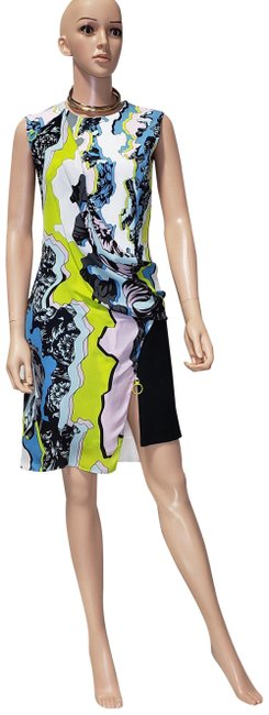 Item - Multicolor W F/W 2016 Look # 42 New Viscose and Silk 40 - Mid-length Cocktail Dress Size 4 (S)