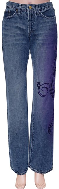 Item - Blue/Purple W New Couture W/ Sequins - 42 Straight Leg Jeans Size 28 (4, S)