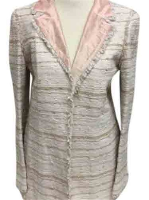 Item - Pink And Beige Tweed Skirt Suit Size 8 (M)